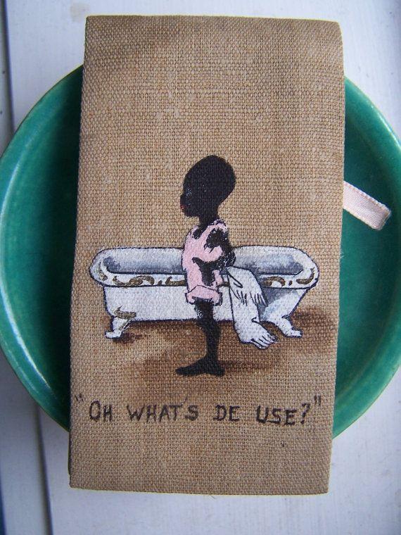 Antique Black Americana Savonoid soap sheets