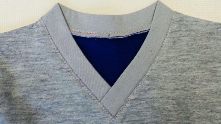 DIY Sewing course How to sew a V Neckline T-shirt. Jak uszyć serek na zakładkę w koszulce - YouTube
