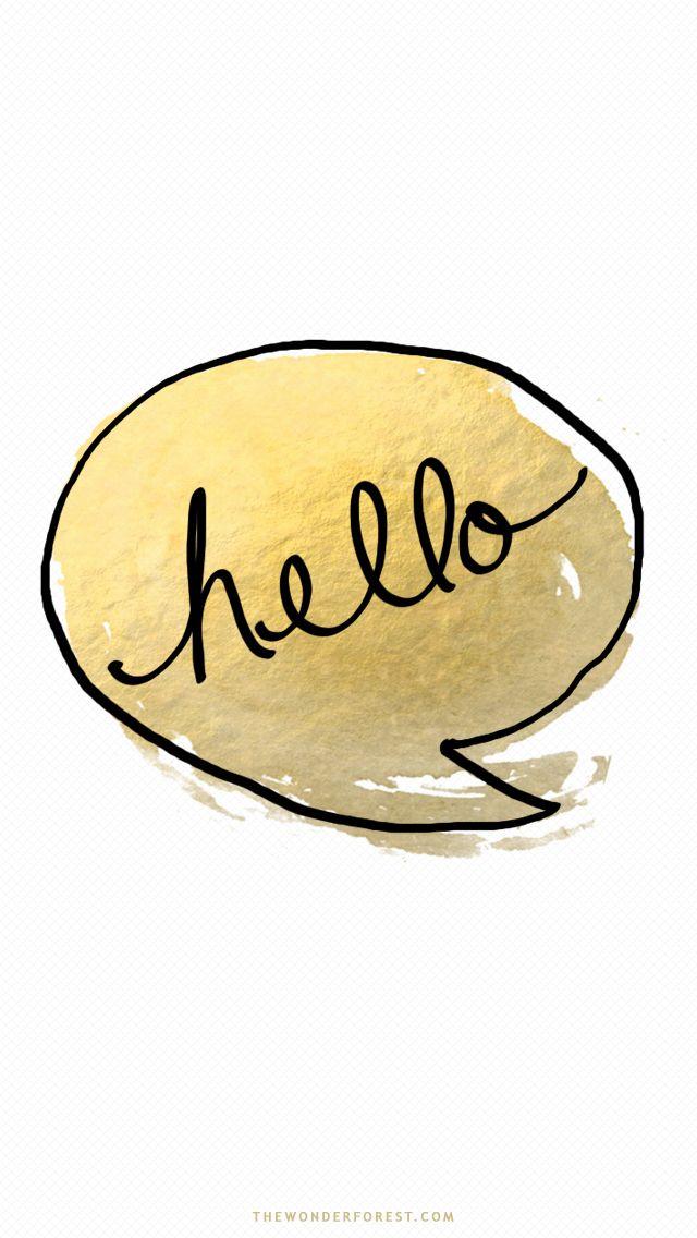 Hello Gold ★ Wallpaper | Olá dourado✨