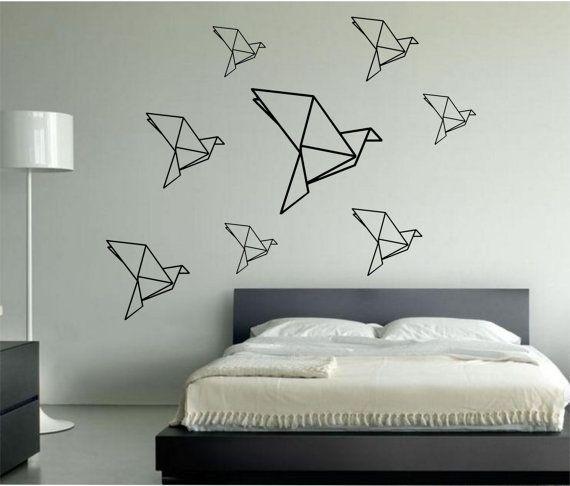 les 16 meilleures images propos de masking tape mural sur pinterest oiseaux en origami. Black Bedroom Furniture Sets. Home Design Ideas