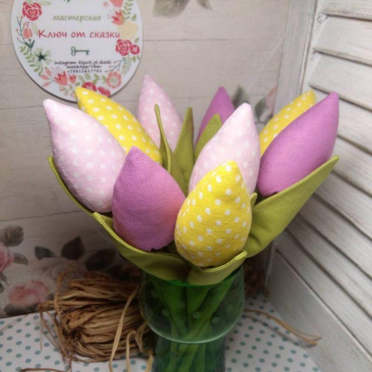 «Еще один вариант исполнения цветовой гаммы для букета из тюльпанов! Поздравьте своих любимых и родных с наступлением долгожданной весны!  стоимость…»