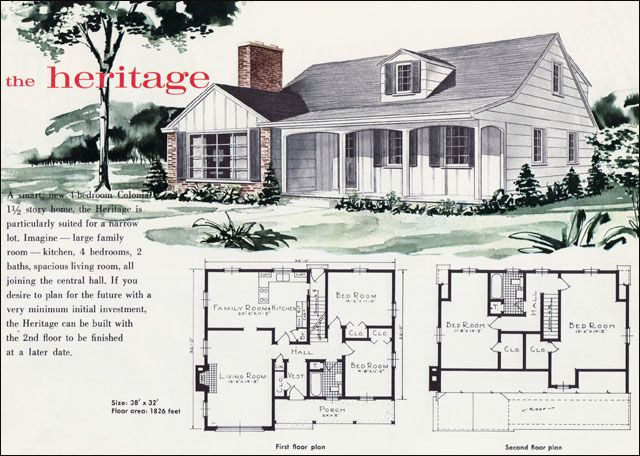 57 best images about vintage house plans on pinterest for 1960 house plans