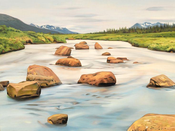 """""""Headwaters"""". Oil on Birch. 2015. 18""""x24"""". Collin Elder. www.collinelder.com"""