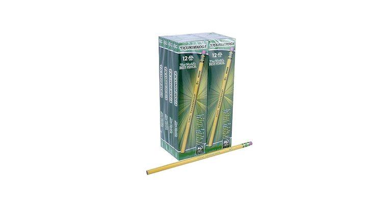Dixon Ticonderoga Wood-Cased Pencils, #2 HB, Yellow, Box of 96 (13882) Pack of 2