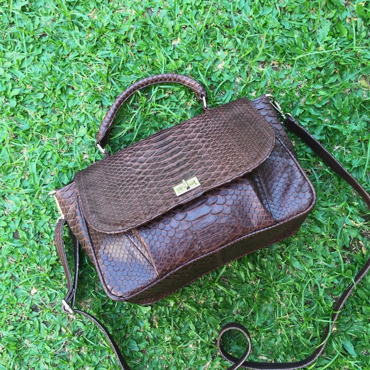 Bag from natural python skin with a removable cross-body strap. The bag is not big but you can wear cross-body or just in your hand. Taking orders on this model. You can choose the color and leather. #fashion#bag#python