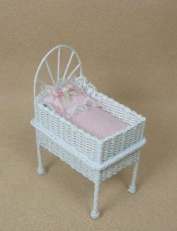 Wicker Doll's Bassinet