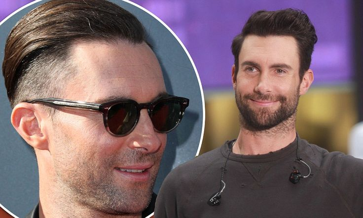 Adam Levine shaves half his head for new punk rock look #DailyMail