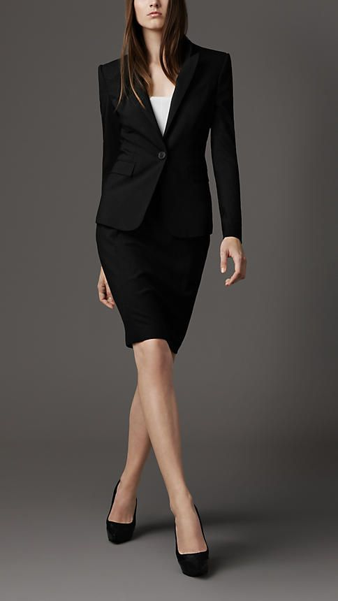 Everyone needs a black pencil skirt suit..Command attention!