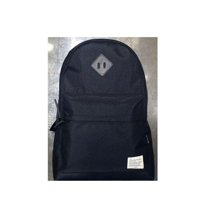 Korea Men Women Casual Button Backpack School Travel Outdoor Shoulder Bag Black