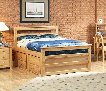 Chelsea Home 3534505-4507 Full Bed with Storage Caramel