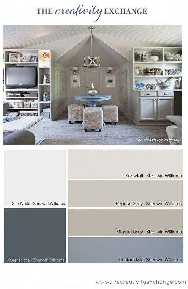 Great for Bonus Room----Paint Color and Color Palette Ideas | #PaintColor #ColorPalette