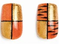 Grr-8 Tiger Stripe Nails