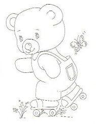 Cute teddy bear pictures for colouring in. Many pictures to choose from. http://coisasdenil.blogspot.com.au/2013/04/riscos-de-ursinhos-com-brinquedos-para-pintar.html