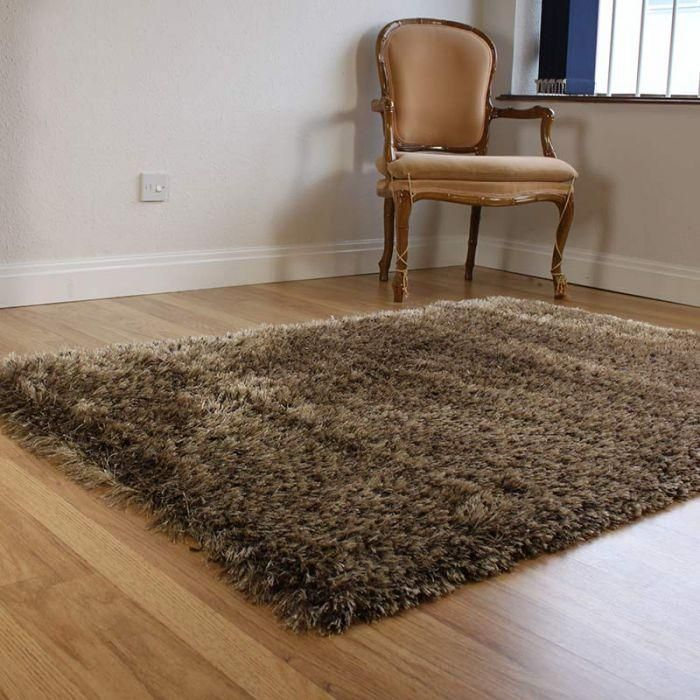 Home Office, Shaggy Rhapsody Rug Brown Grey Color Picture