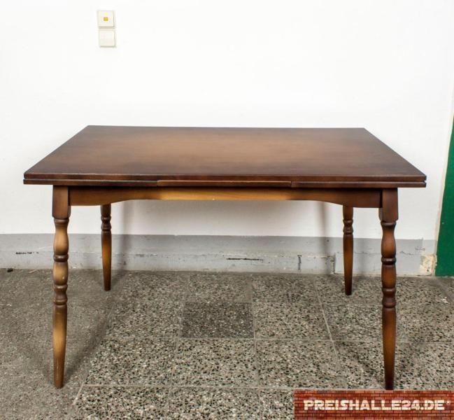 Holztisch, normal gebraucht, ausziehbar bis auf 200 cmMaße: 120x80x77 cmGünstiger Transport auf Anfrage. Verfügbarkeit und Termin bitte telefonisch hinterfragen.