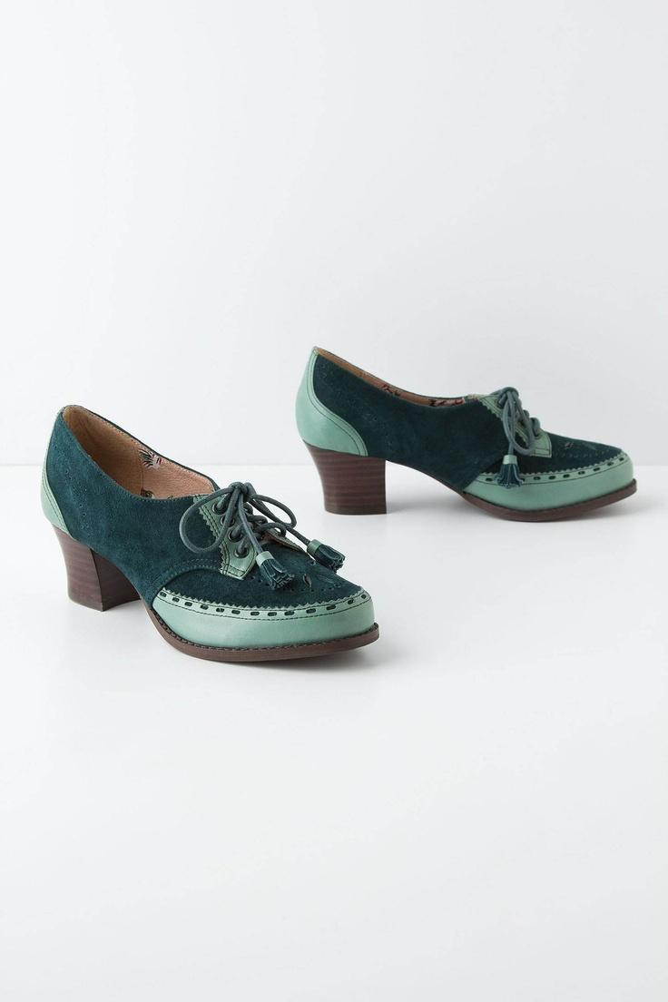 WANT!! Tassel Tie Oxfords - Anthropologie.com: Leather Heels, Tie Oxfords, Fits True, Tie Closure
