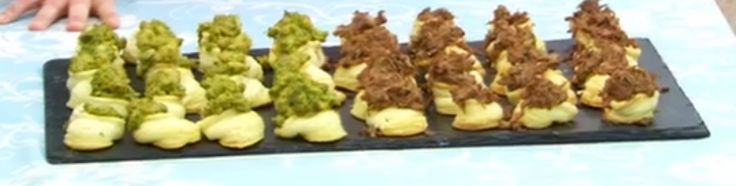 Tamal Ray's  Coriander Chicken and Fennel Seeds and Rosemary Pulled Pork Vol-au-vents