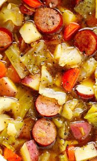 .................. Cooking with Barry & Meta: Cabbage, Sausage & Potato Soup - German inspired #soup