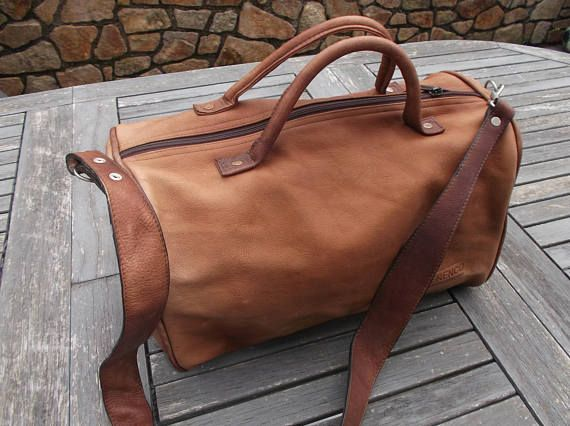 leather bag vintage for man-camel brown bag with handles and