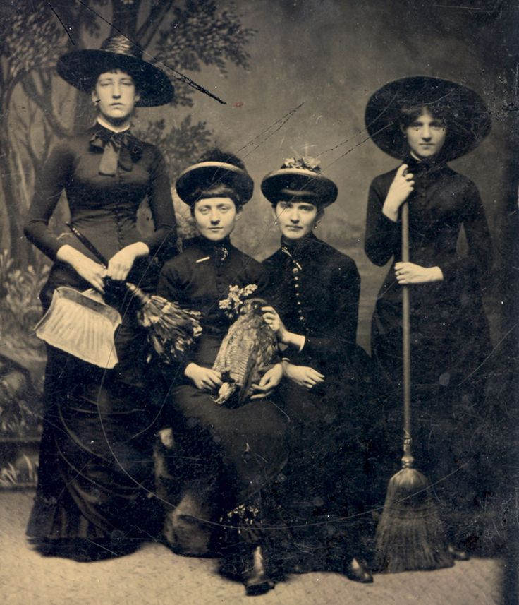 "This group of ""witches"" in 1875. 