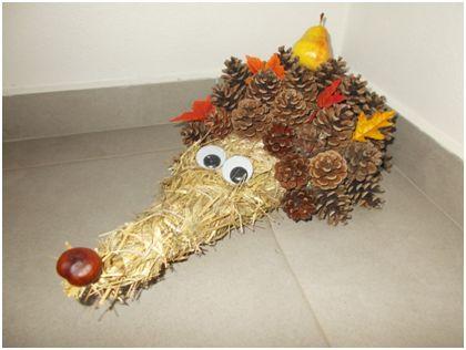 Podzimní ježek #ježek #podzim #tvoření