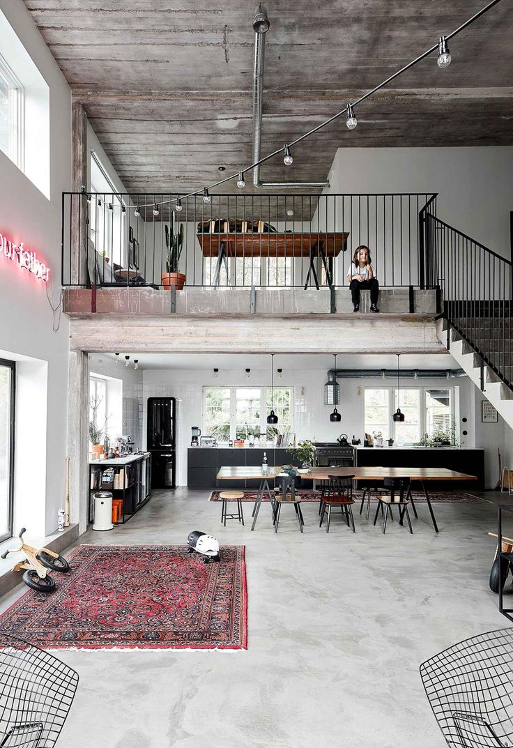 A ski factory's industrial chic loft home conversion