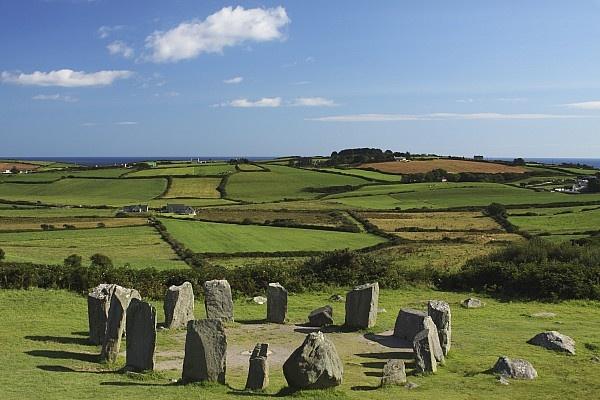 Drombeg Stone Circle Near Glandore In West Cork In Munster Region County Cork, Ireland