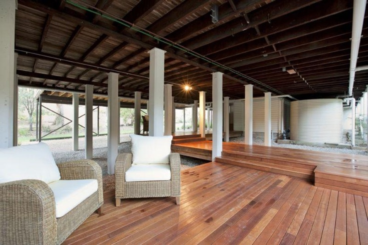 Underneath a Queenslander - instead of building in, build a deck :)