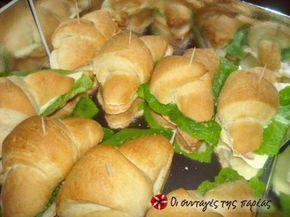 Αφράτα ψωμένια κρουασάν και νόστιμα...