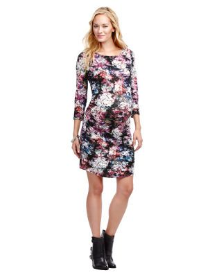 Jessica Simpson 3/4 Sleeve Maternity Dress