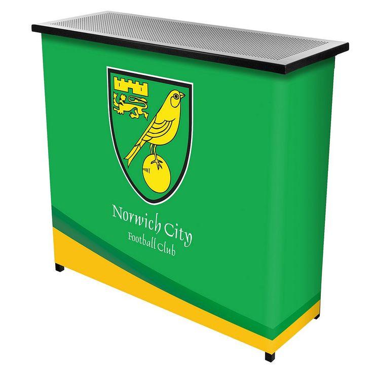 Norwich City FC Portable Bar Cart, Green