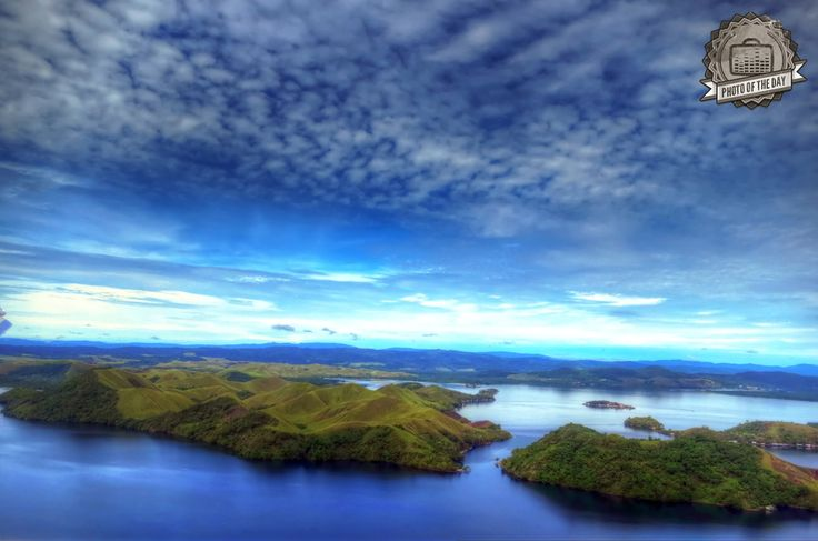 """View from Jayapura City, Papua, Indonesia by Sari Siregar uploaded to our site is picked as """"Burufly's Photo of The Day""""."""