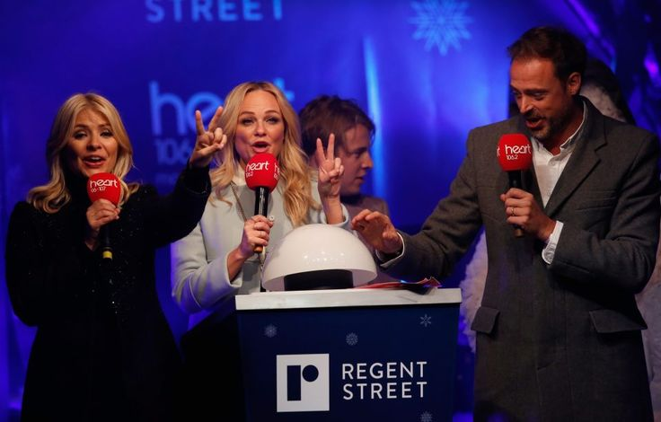 Holly Willoughby switches on Regent Street Christmas lights