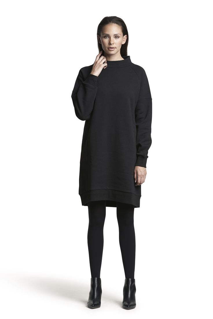 Getto sweat dress and Gipsy pantyhose #black #relaxed #fashion #beautiful #cosy #warm #AW15