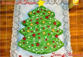 Tarta de navidad - la cocina de Loli Dominguez