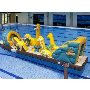Beautiful giant inflatable water slide, portable swimming pool slides