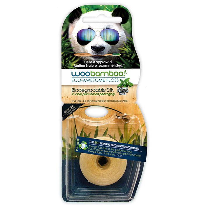 Soie dentaire biodégradable et compostable