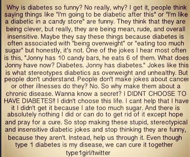 So just stop. Learn what causes Type 1 Diabetes instead ...