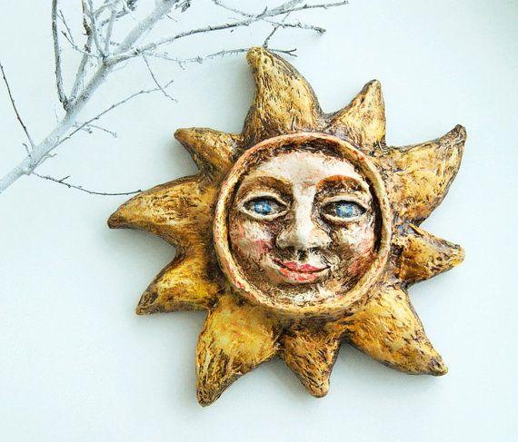 Christmas tree toy Sun Christmas ornament Sun toy by DecoNatureArt