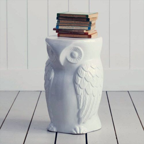 My Owl Barn: Ceramic Owl Stool: Ceramics Owl, Side Tables, Front Rooms, Wild Owl, Owl Theme, Owl Stools, Decor Items, Memorial Tables, Kare Design
