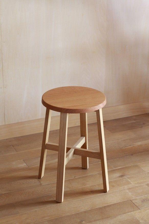 ライトスツール ケヤキ 椅子(チェアー)・スツール コヤモッコウ ハンドメイド通販・販売のCreema