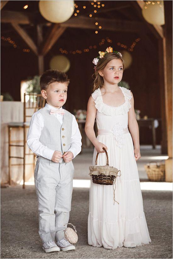 elegant flower girl and ring bearer