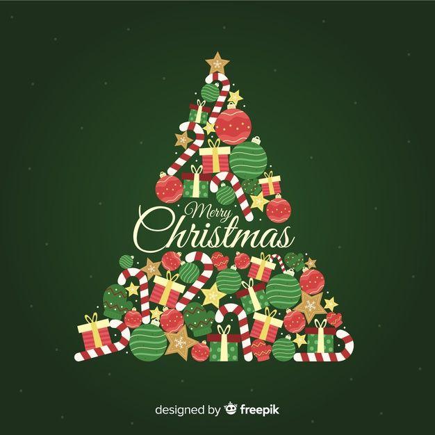Telechargez Fond D Arbre De Noel Au Design Plat Gratuitement Christmas Background Iphone Christmas Phone Wallpaper Christmas Illustration
