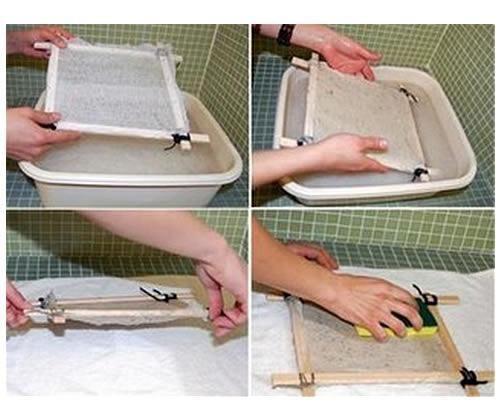 papel reciclado paso a paso