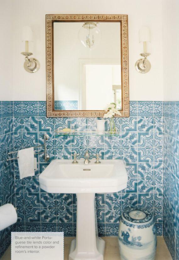 Blue Tile Bathroom top 25+ best blue white bathrooms ideas on pinterest | blue