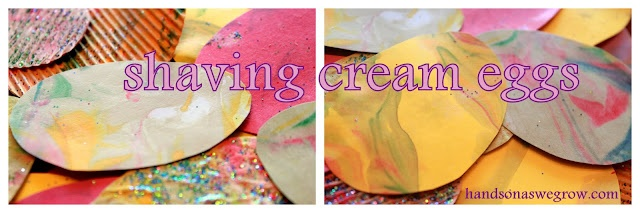 Shaving cream Easter Egg art project craft - tried it last year, but it didn't really work out ;(
