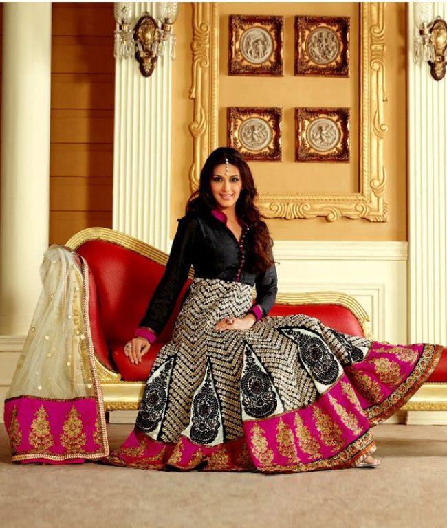 Get UPTO 60% Off on Sonali Bendre's designer #Anarkali_Suits collection...