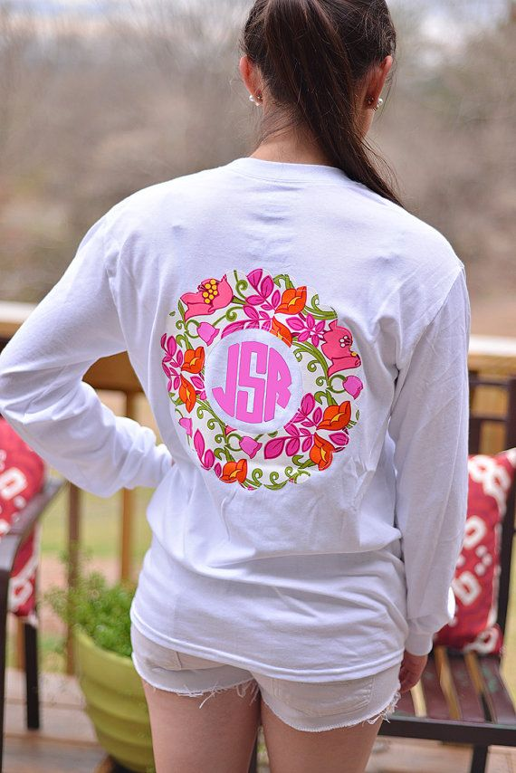 I Love Vera Bradley Prints!! ~Vera Bradley Applique and Monogram Women's T-Shirt, $28.00.