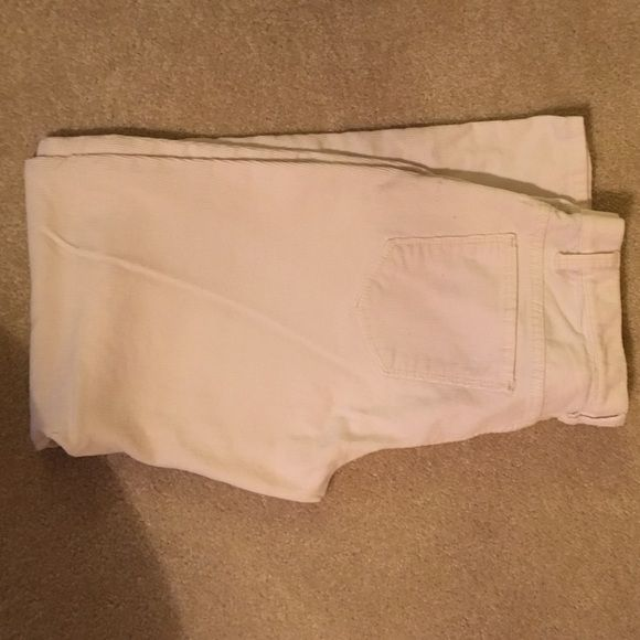 Talbot pants Comfortable Talbots corduroy slacks in off white. Gently worn.  Size 4p  Talbots Pants Straight Leg