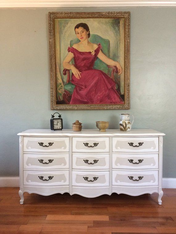 Sample Piece Solid Wood Two Tone French Provincial Dresser My Fix